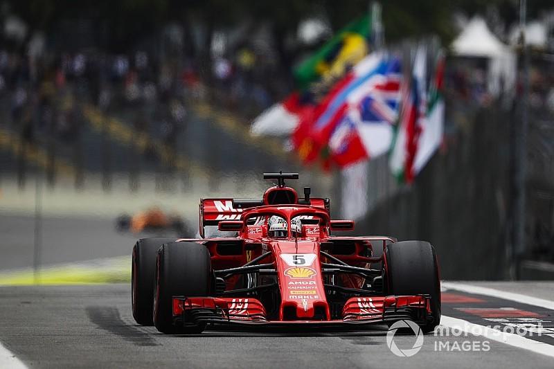 Vettel se lleva una reprimenda y una multa tras dañar el pesaje de Interlagos