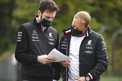 Bottas aprovechó el simulador de Mercedes para mejorar el W12