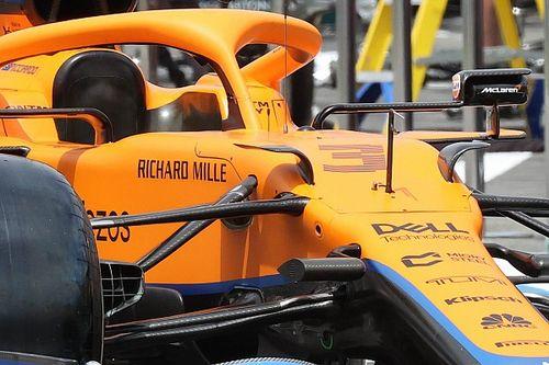 McLaren: sul telaio della MCL35 M spuntano le orecchie