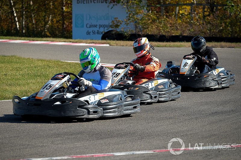 Close finish at the 3-Hour endurance race at SRA Karting