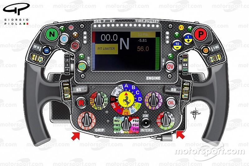 Анализ: что за секретные переключатели появились на руле Ferrari