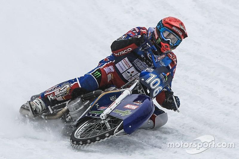 По лезвию бритвы. Лучшие фото этапа Ice Speedway Gladiators в Алма-Ате
