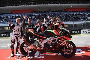Galería: los campeones de Aprilia en Mugello con la nueva RSV4