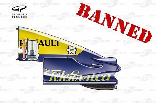 ¿Por qué se prohibió el mass damper de Renault?