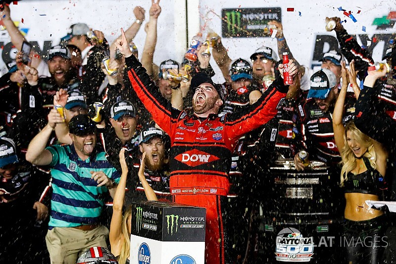 Daytona 500: Austin Dillon takes emotional win after chaotic last-lap