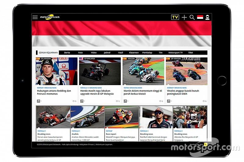 Motorsport.com startet Webseite in Indonesien