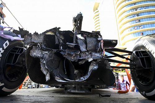 Bakü kazasında Verstappen'in RB16B'sinde büyük hasar oluşmadı