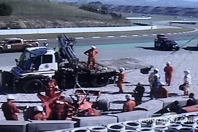 Vettel, Barcelona testlerinde kaza yaptı