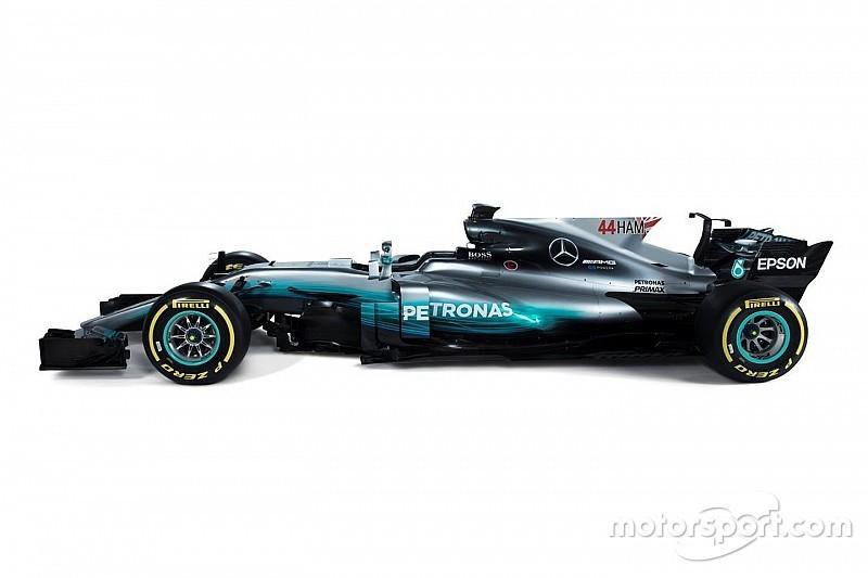 【F1】メルセデス、ドライバー判別する為の新規則に沿ったマシンを公開
