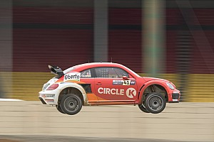 Global Rallycross Qualifying report Speed and Bigham win first round of GRC Indianapolis heats