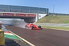 Kvyat probó con Ferrari para Pirelli