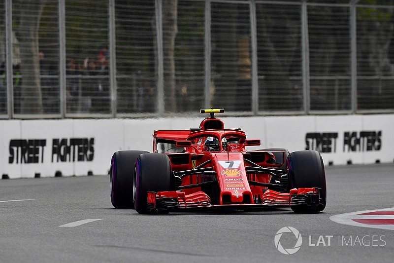 Ocon no tiene respuesta a la maniobra que intentó Räikkönen