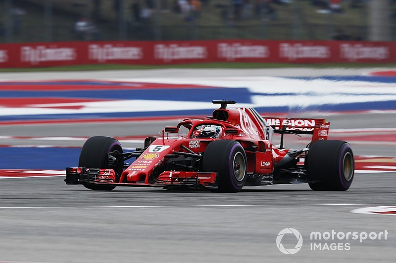 US GP: Vettel leads Ferrari 1-2 in final practice