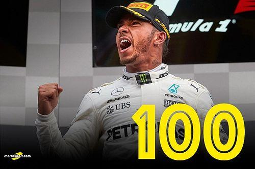 GALERÍA: las 100 victorias de Hamilton en F1