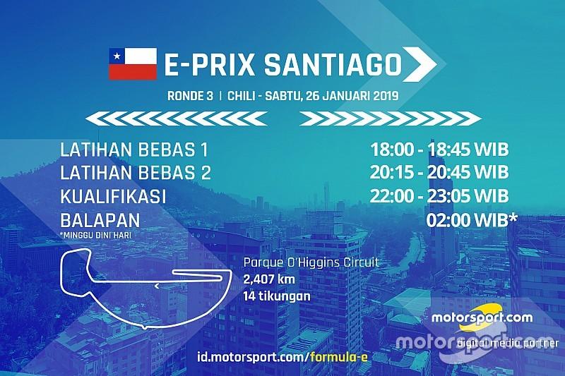 Jadwal Formula E E-Prix Santiago