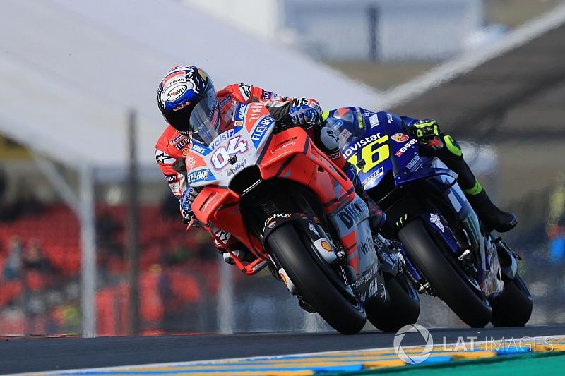 Dovizioso destroza el crono por delante de Márquez y Rossi