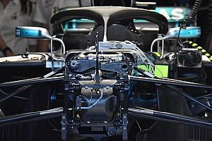 Formula 1 Analisi Mercedes: ecco il terzo elemento idraulico della sospensione anteriore