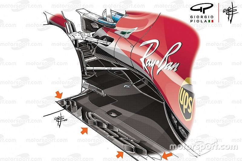 Tech analyse: De nieuwe vinnetjes op de vloer van Ferrari en Red Bull Racing