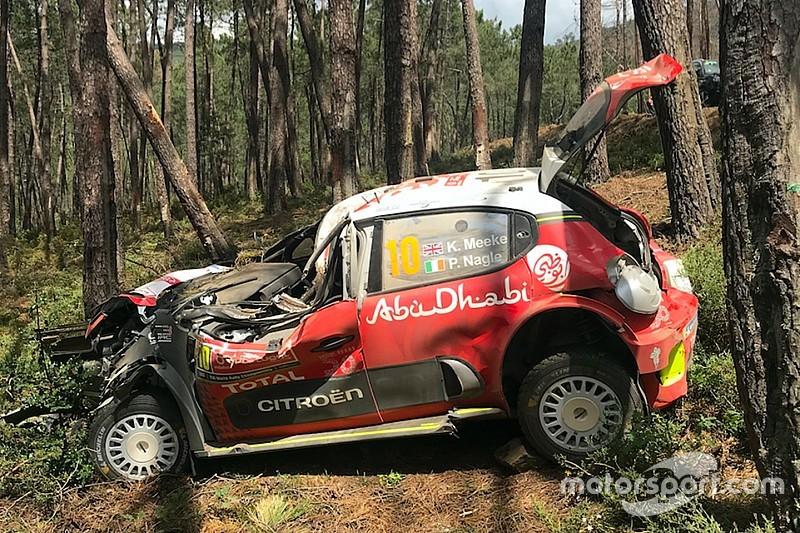 Міцний корпус машини WRC Citroen врятував Міку життя