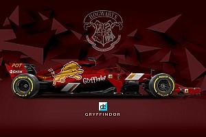 Формула 1 Самое интересное Быстрее, чем «Нимбус-2000»: как выглядели бы машины Ф1 в Хогвартсе