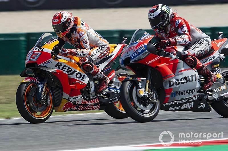 """Marquez worstelde: """"Pushte te hard om Lorenzo bij te houden"""""""