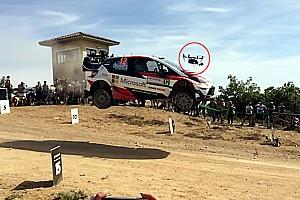 WRC Haberler Esapekka Lappi, WRC aracıyla Drone'a karşı