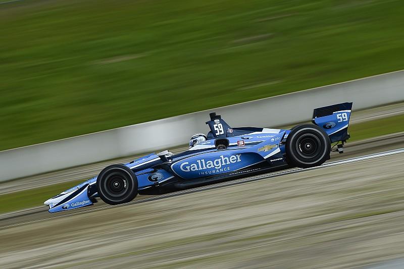 Chilton leads morning IndyCar test session at Laguna Seca