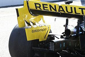Renault: ci sono tre flap nella parte svergolata della paratia laterale dell'ala