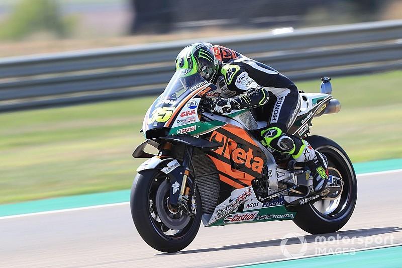 Aragon MotoGP: Crutchlow tops FP3, Rossi crashes