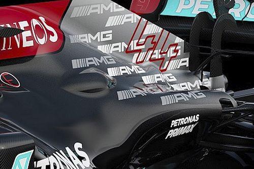 GALERÍA: las fotos del Mercedes W12 para la temporada 2021 de F1