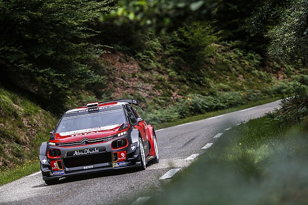Le test de Loeb sur la C3 WRC en photos