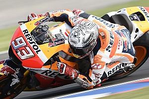 MotoGP Отчет о квалификации Маркес выиграл дождевую квалификацию Гран При Аргентины