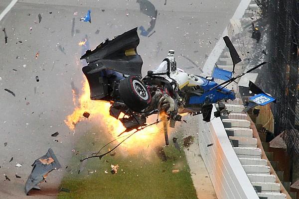 IndyCar Die Geschichte zum Bild: Der wilde Crash beim Indy 500