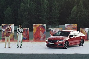Automotive Breaking news WRC2 champion creates abstract art with Skoda Octavia RS 245