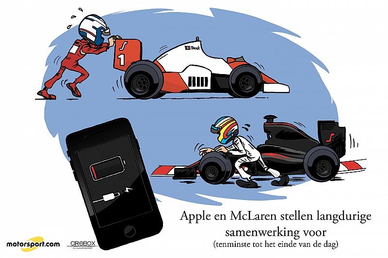 Cartoon van Cirebox - Apple en McLaren?!