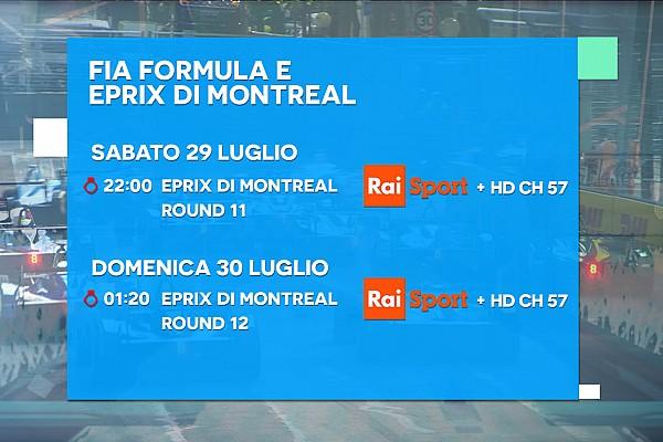 Ecco la programmazione TV del doppio ePrix di Montréal
