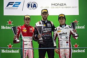 FIA F2 Race report Monza F2: Ghiotto wins after last-lap de Vries/Leclerc clash