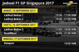 Formula 1 Preview Jadwal lengkap F1 GP Singapura 2017