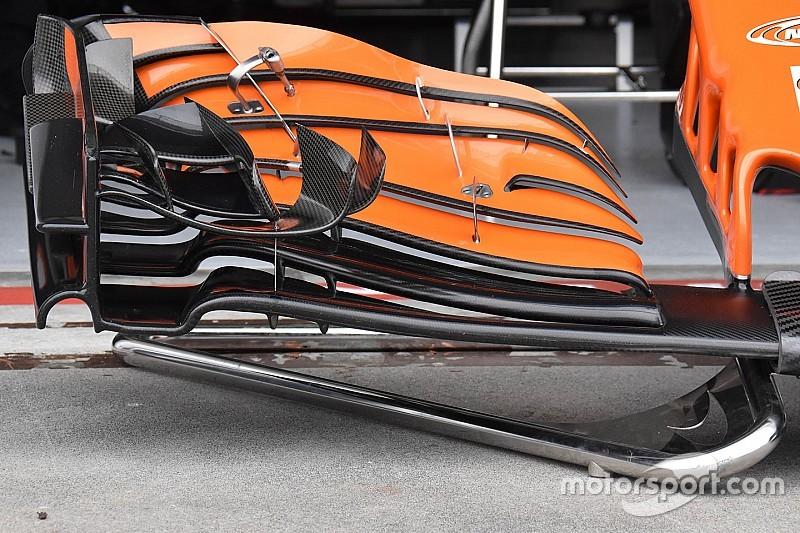 Analisis teknis: Alonso pakai sayap depan baru McLaren