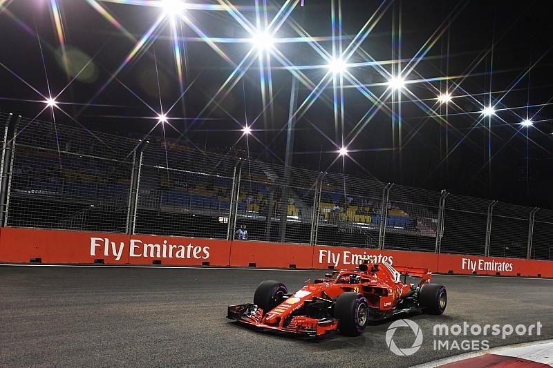 Räikkönen nyerte a második edzést a Szingapúri Nagydíjon Hamilton előtt: Vettel újabb hibája