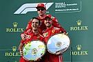 El presidente de Ferrari celebra: