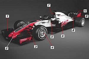 Formel 1 Analyse Formel-1-Technik: Haas setzt beim neuen VF-18 auf Ferrari-Tricks