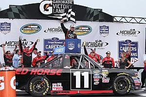 NASCAR Truck Race report Moffitt wins first Truck race with bold last-lap pass