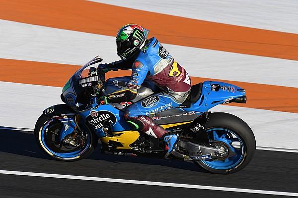 Franco Morbidelli mit Valentino Rossi auf der Strecke: