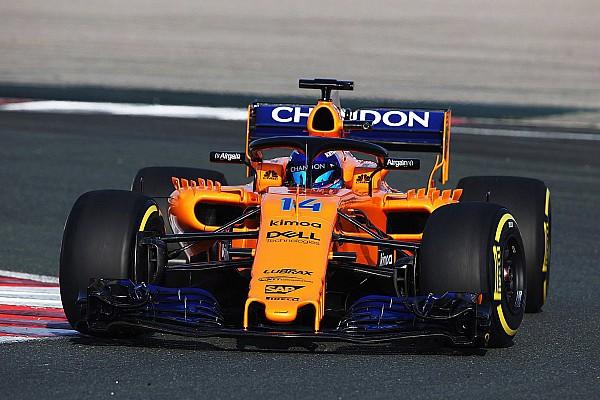 搭载雷诺引擎的迈凯伦2018年F1赛车完成赛道首秀