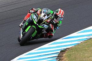 Superbike-WM News Kawasaki: Test wird durch drei Stürze überschattet