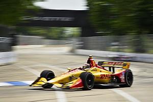 IndyCar Practice report Detroit IndyCar: Hunter-Reay tops FP2, King shunts hard