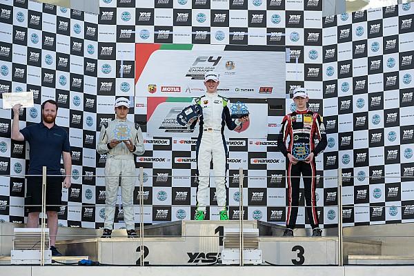 فورمولا 4 الإماراتية فورمولا 4 الإماراتية: شوماخر يفرض سيطرته على جولة أبوظبي وكوليه يحرز فوزه الأول