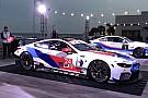 BMW、IMSA参戦のM8 GTEカラーリング公開。伝統のストライプまとう