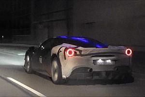 Une Ferrari 488 hybride surprise en plein test!